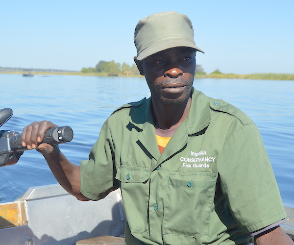 A fishing guard on patrol