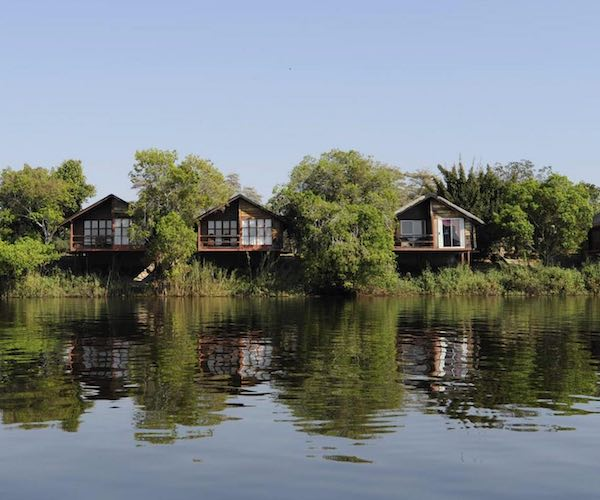Three luxury chalets overlooking a wide river